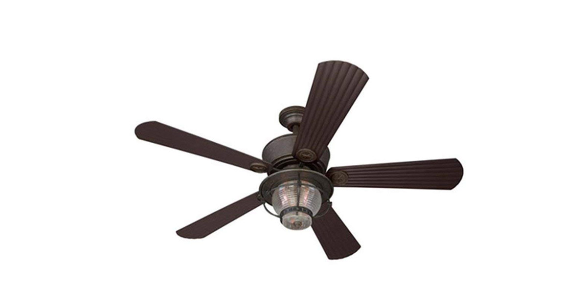 Harbor Breeze 40094 Merrimack 52 in Antique Bronze Downrod Mount Indoor Outdoor Ceiling Fan image