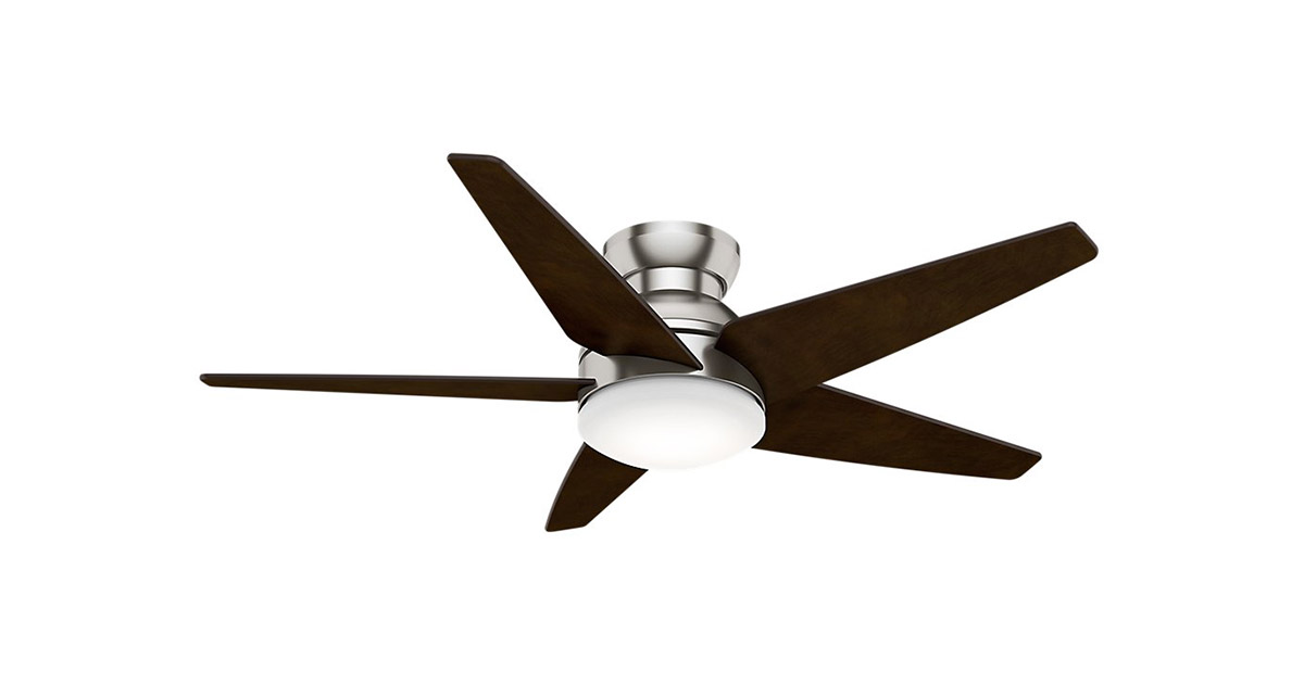 Casablanca 59022 Isotope 52-Inch 5 Blade Single Light Brushed Nickel Ceiling Fan image