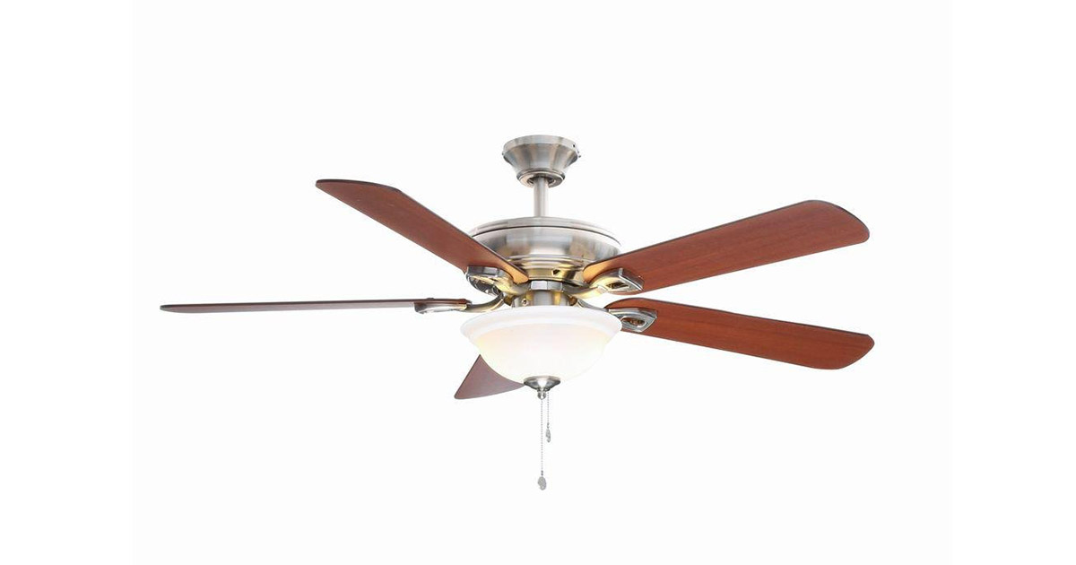 Hampton Bay 082392515638 Rothley 52 inches Indoor Brushed Nickel Ceiling Fan image