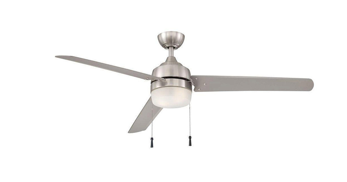 Hampton Bay 1000-007 631 Carrington 3 Bladed 60-Inch Brushed Nickel Ceiling Fan image