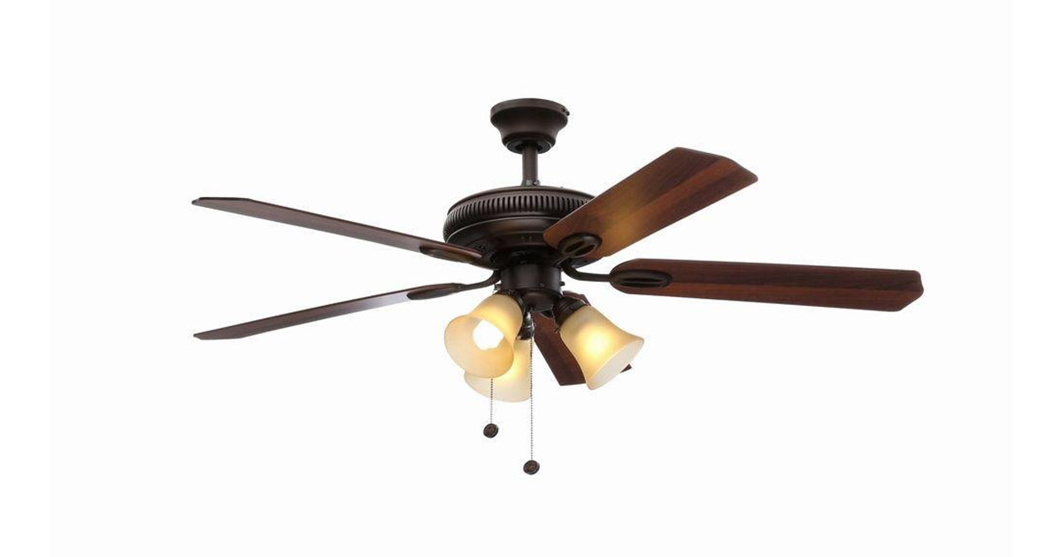 Hampton Bay AG524 ORB Glendale 52-Inches Oil Rubbed Bronze Ceiling Fan image