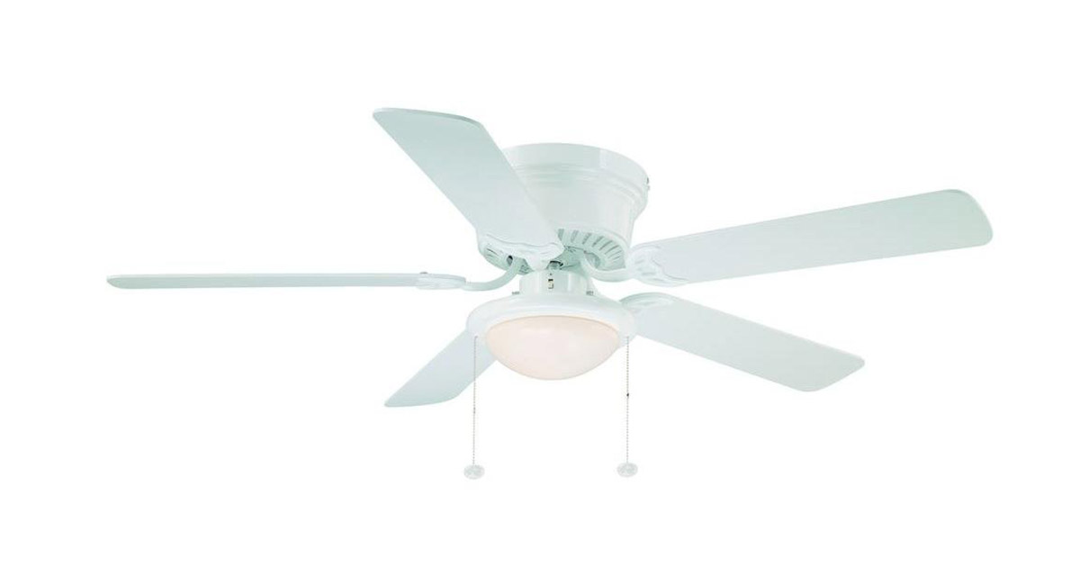 Hampton Bay AL383WH Hugger 52-inches White Ceiling Fan image