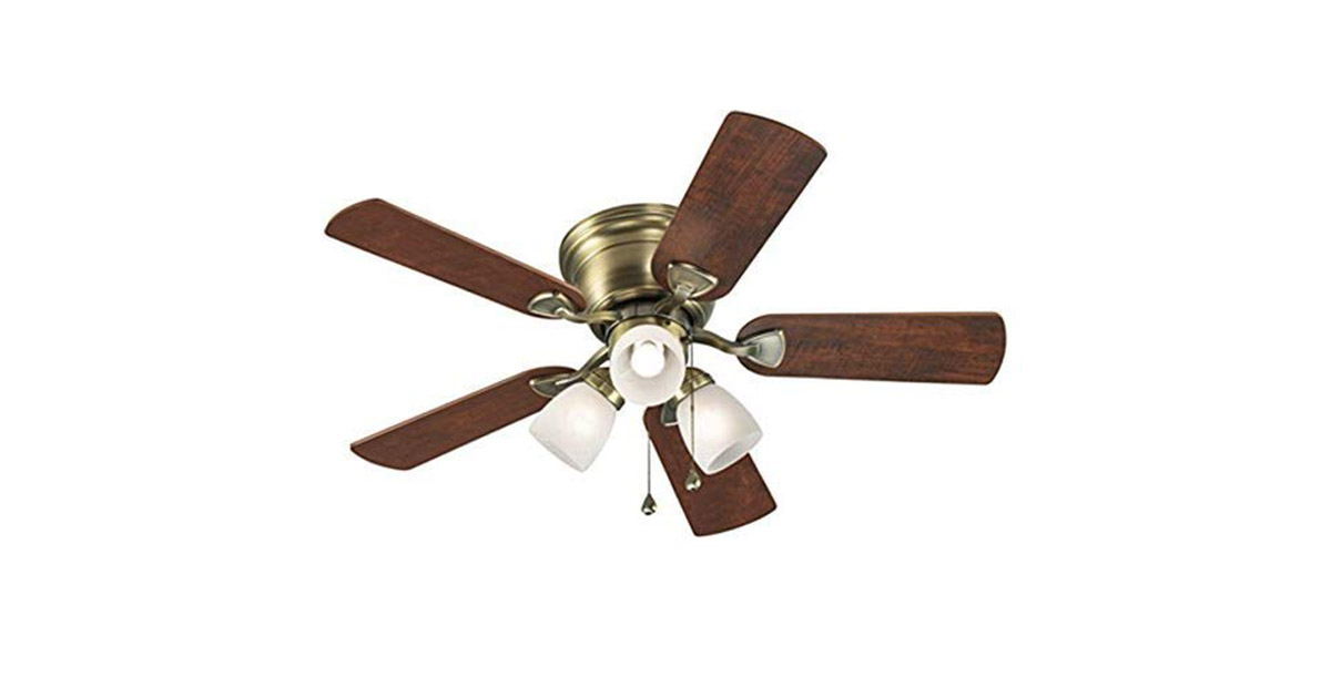 Harbor Breeze 40110 Centreville 42inches Antique Brass Flush Mount Ceiling Fan image