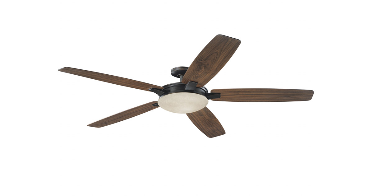 Harbor Breeze 40190 Platinum Kingsbury 70-in Oil Rubbed Bronze Indoor Downrod Mount Ceiling Fan image