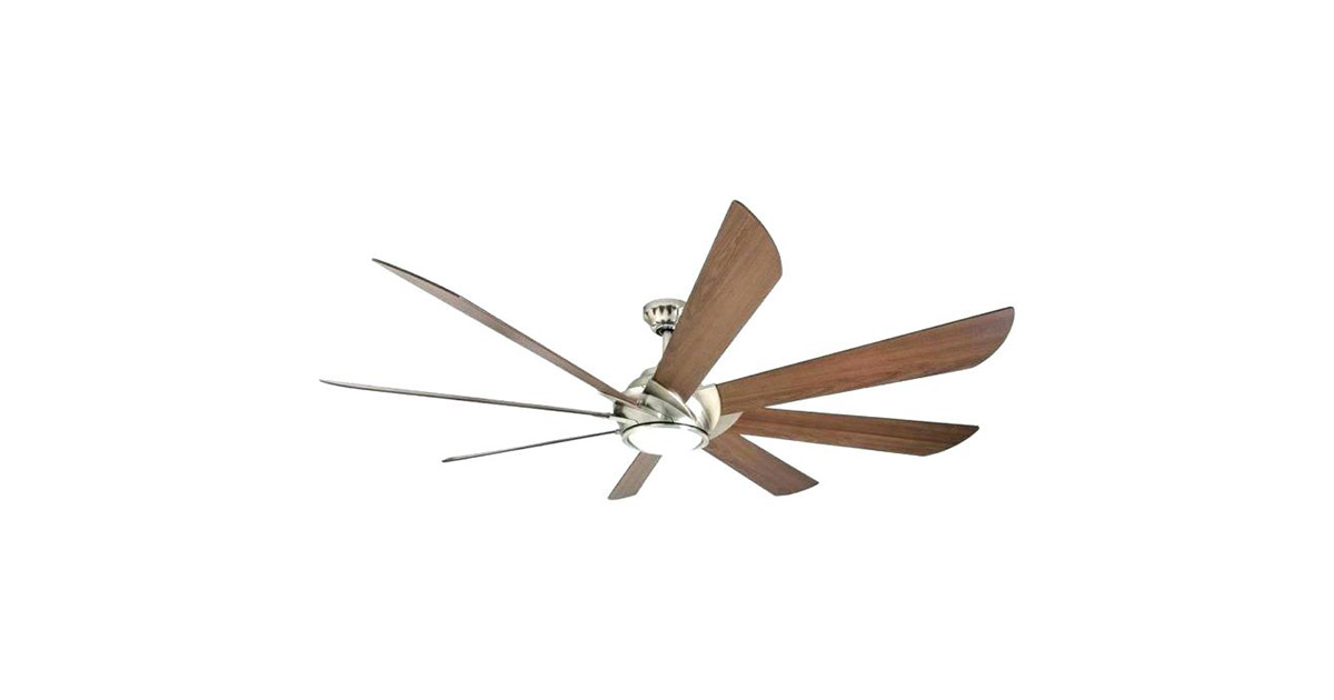 Harbor Breeze 41371 Hydra 70-in Brushed Nickel LED Indoor Downrod Mount 8 Blade Ceiling Fan image