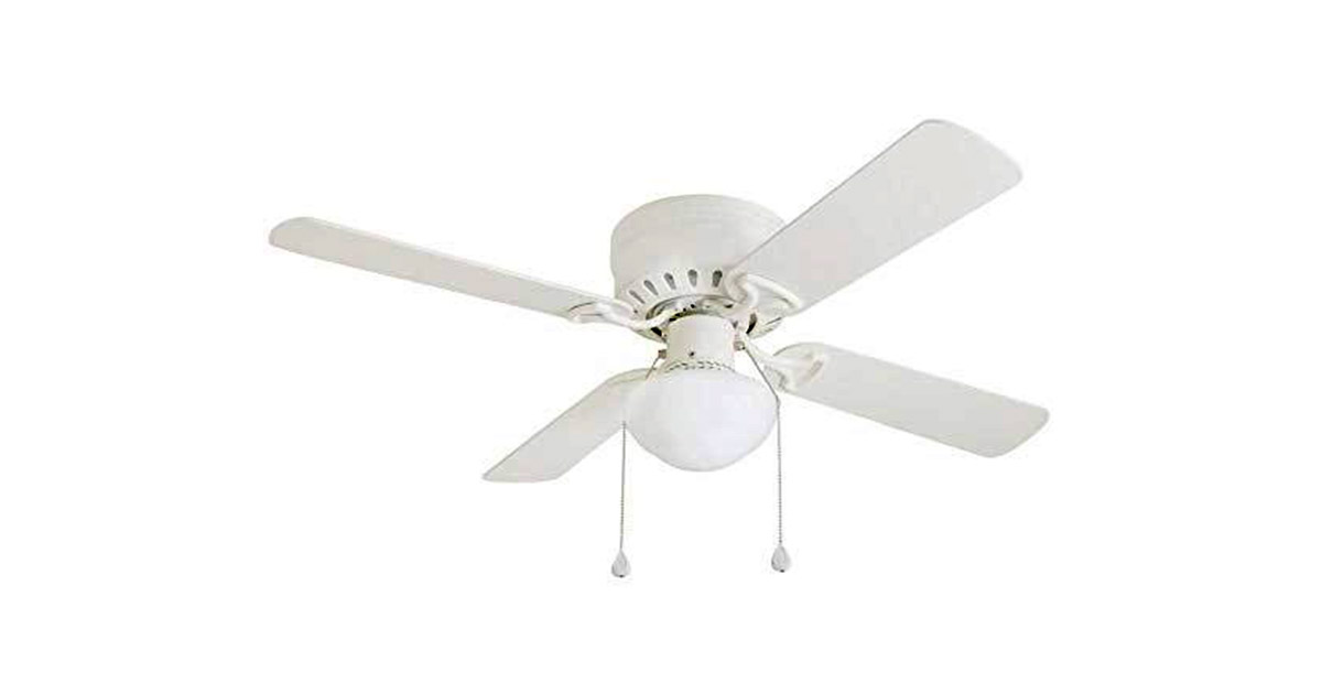 Harbor Breeze Armitage 42 in White Indoor Flush Mount 4-Blade Ceiling Fan image
