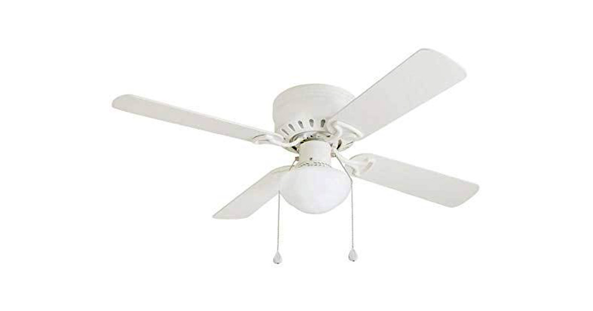 Harbor Breeze Armitage 42-inches White Indoor Flush Mount 4 Blade Ceiling Fan image