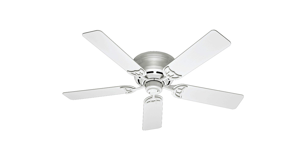 Hunter 53069 52 inch White Indoor Low Profile III Ceiling Fan image