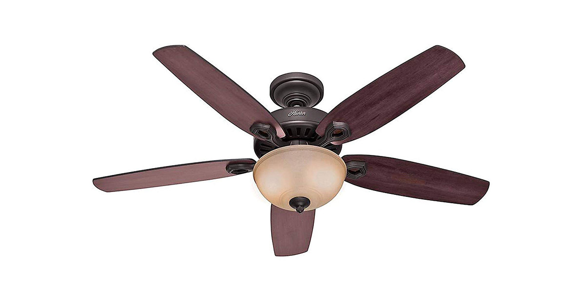 Hunter 53091 Builder Deluxe 52 inch New Bronze Indoor Ceiling Fan image