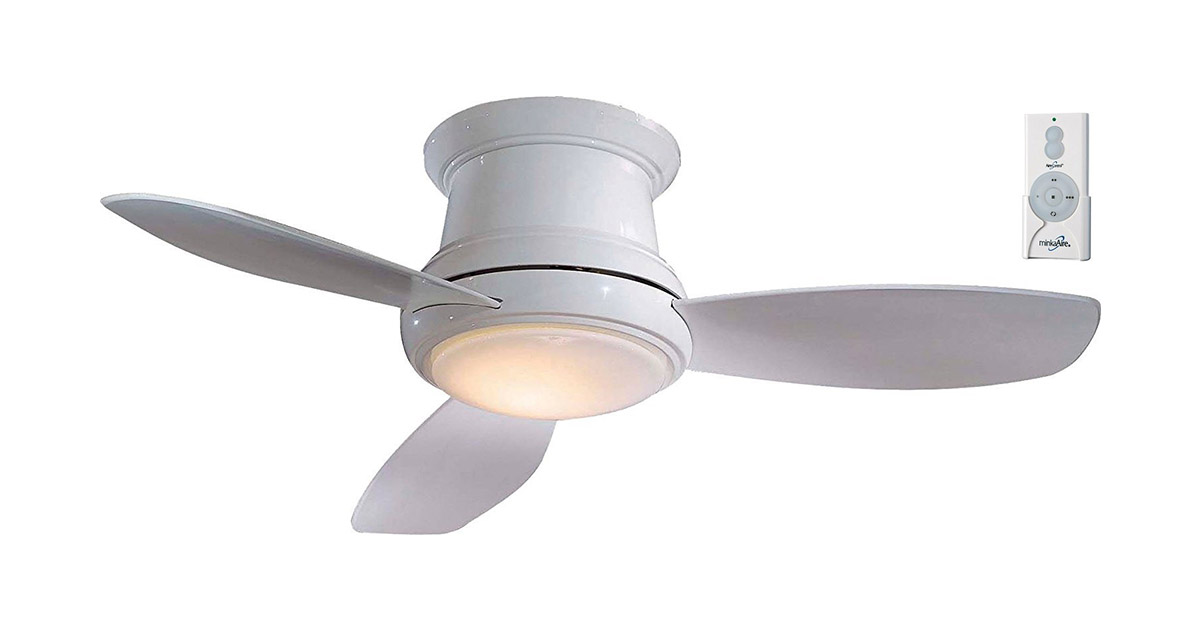 Minka Aire F518LWH Concept-II LED White Flush Mount 44-inch Ceiling Fan image