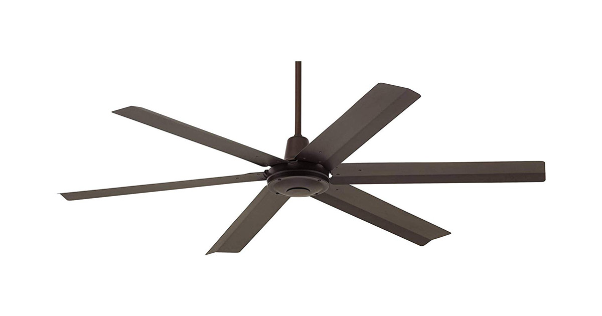 Casa Vieja 60inches Brown Oil Rubbed Bronze Damp Turbina Max Modern Industrial Outdoor Ceiling Fan image