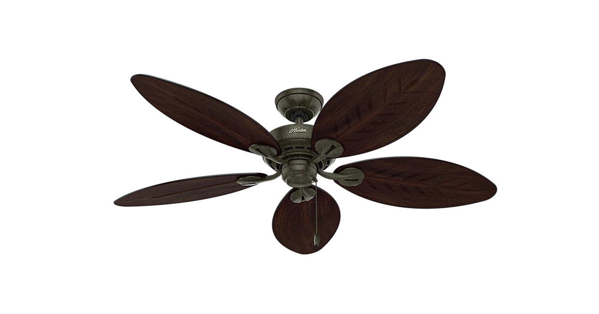 Hunter 54098 Bayview 54 inch Gold Indoor Outdoor Ceiling Fan image