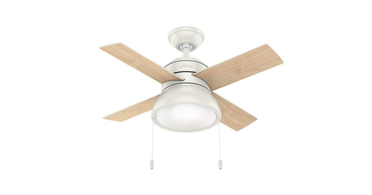 Hunter 59385 Loki 36 inch White Indoor Ceiling Fan image