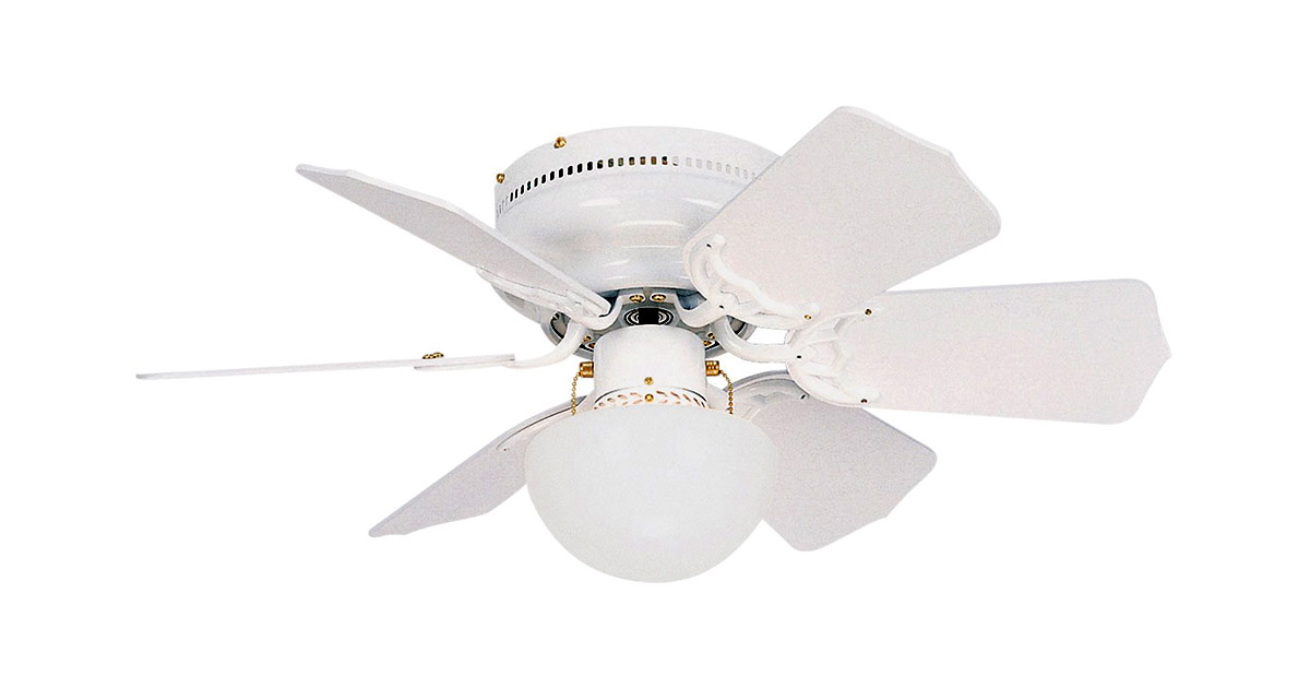 Litex BRC30WW6L Vortex 30-Inch Six Reversible White Whitewash Blades Ceiling Fan image