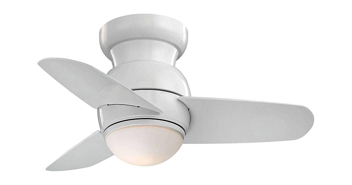 Minka Aire F510WH Downrod Mount 3 White Blades Ceiling fan image