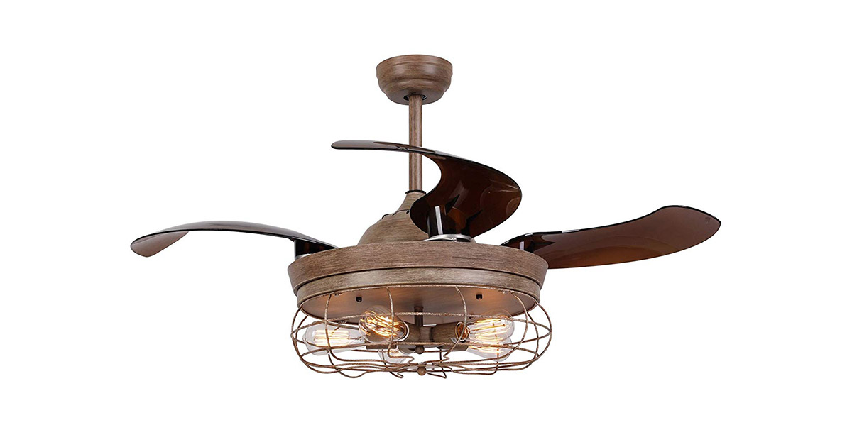 Parrot Uncle F4503WOW 46 Inch Weathered Oak Wood Ceiling Fan image