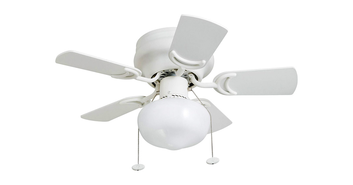 Prominence Home 4153001 Hero 28-inches Hugger Small Glossy White Ceiling Fan image
