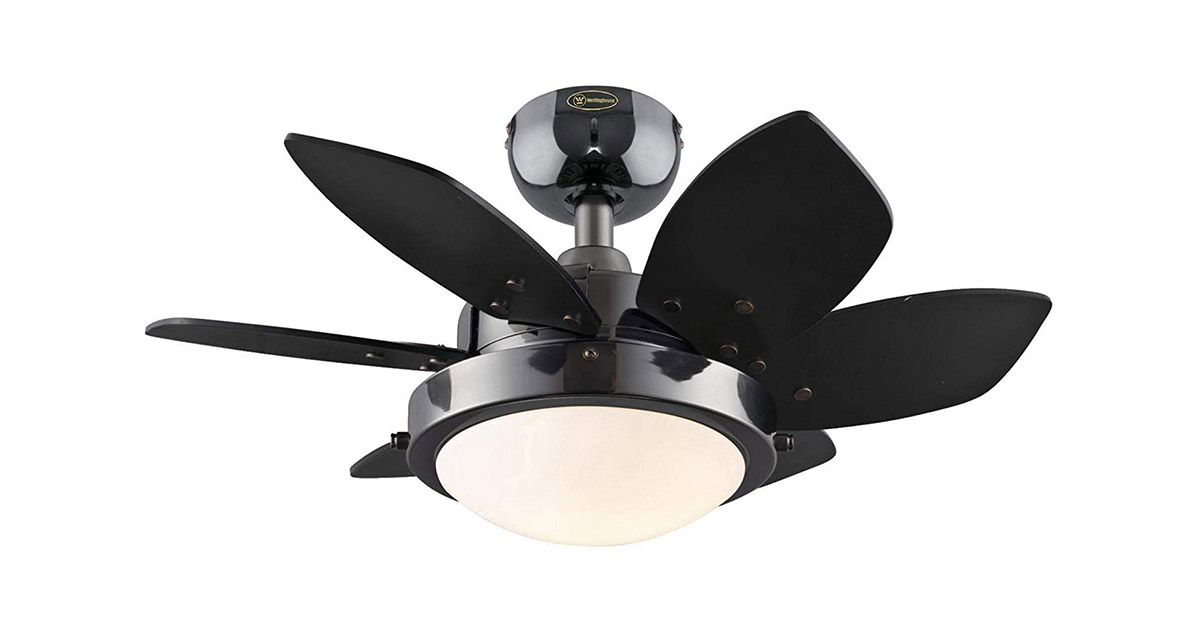 Westinghouse Lighting 7224300 Quince 24-Inch Gun Metal Indoor Ceiling Fan image