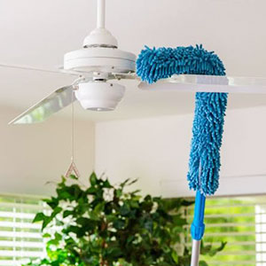 Cleaning the ceiling fan image