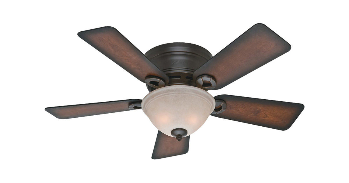 Hunter 51023 Indoor Low Profile Conroy 42 inch Onyx Bengal Ceiling Fan image