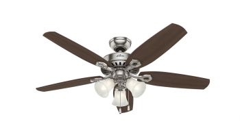 Hunter Builder Plus 52 Inch Indoor Ceiling Fan 53237 – Classic & Ideal Fan for Any Living Room!
