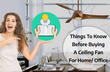 Things To Know Before Buying A Ceiling Fan For Home/ Office