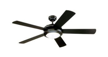Westinghouse Lighting 7801665 Comet 52-Inch Matte Black Indoor Ceiling Fan image
