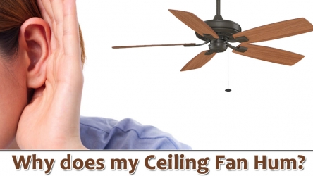 What is the reason behind Ceiling Fan to Hum? & How to fix it?